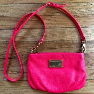 Marc Jacobs neon leather purse